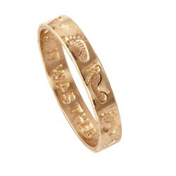 Toscana Collection 10k Yellow Gold Footprints Band