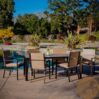Christopher Knight Home Molokai 7 piece Poly Wood Outdoor Dining Set