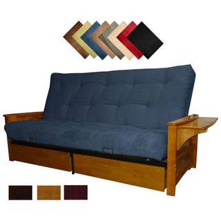Burbank Microfiber Suede Inner Spring Full size Futon Sofa Bed Sleeper