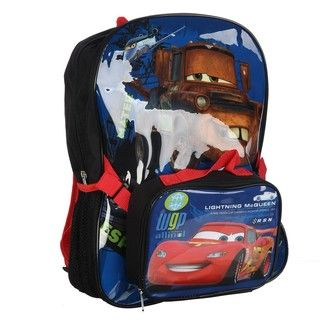 Disney Pixars Cars 2 16 inch Backpack with Lunch Tote