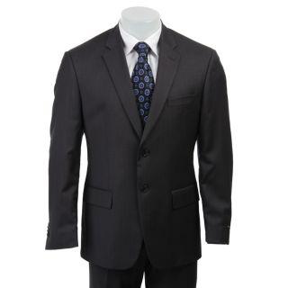 John Varvatos Star USA Mens 2 button Grey Stripe Wool Suit