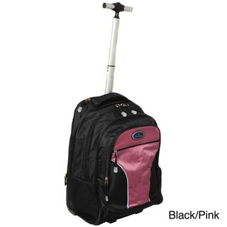 World Traveler On The Go Wheeled Laptop Computer Rolling Backpack