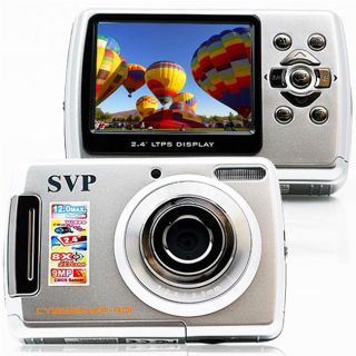 SVP Cybersnap 901 9MP 2.4 inch LCD Silver Digital Camera/ Video