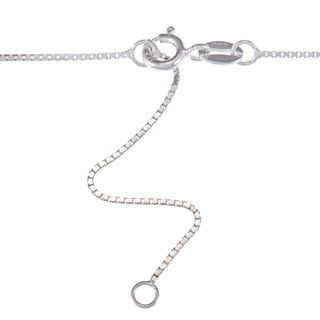 Sterling Silver Freshwater Pearl with Cubic Zirconia Loop Necklace (9