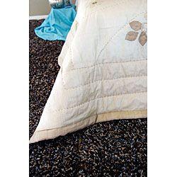 Jocelyn Hand applique Silk King Bedding (India)