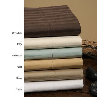 Luxury Manor 800 Thread Count Stripe Cotton Sheet Set