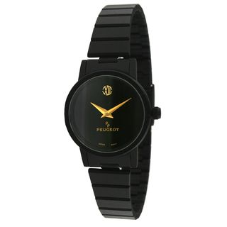 Peugeot Vintage 183L Black Metal Gold Hand Watch