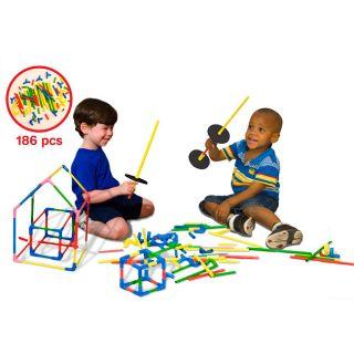 Serec U Build It 186 piece Chunky Construction Teaching Tool Toy Set