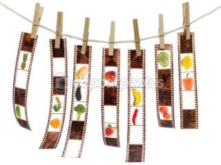 Film reel with fruits  Stock Photo © Sergej Razvodovskij #1499168