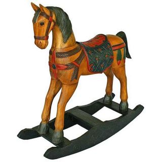 Handmade Coat of Arms Decorative Rocking Horse (Thailand)