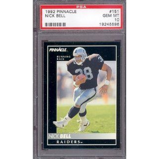 1992 Pinnacle #151 Nick Bell Raiders PSA 10 pop 1