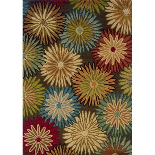 Brown/Blue Transitional Area Rug (10 x 13)