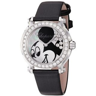 Chopard Womens Happy Sport Round Mother of Pearl Mickey Mouse Watch
