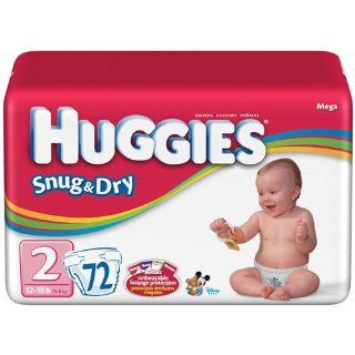 HUGGIES SNUG & DRY DIAPER, SIZE 2, 144/CS, KIC52366 Sports & Outdoors