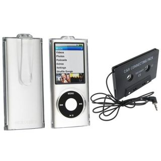 Protector Case/ Cassette Adapter for Apple iPod Nano 4th Generation
