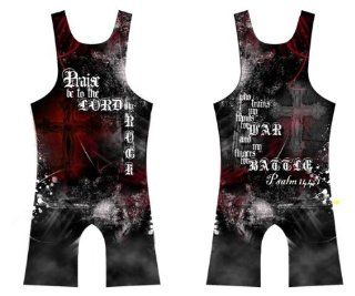 4 Time Psalm 144:1 Sublimated Wrestling Singlet: Youths