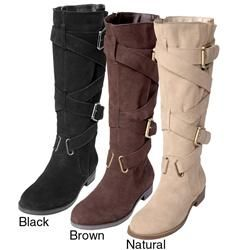 Two Lips Womens Too Jasp Buckle Detail Mid calf Boots Today $64.99
