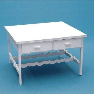 Dollhouse Miniature 1/144 Scale Queen Anne Table Kit: Toys