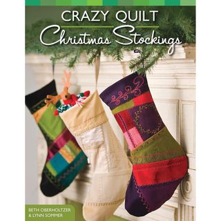 Design Originals Crazy Quilt Christmas Stocking