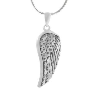 Tressa Sterling Silver Oxidized Angel Wing Necklace