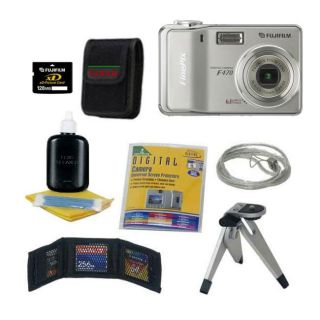 Fuji FinePix F470 6MP Digital Camera w/ Bonus Kit (Refurbished