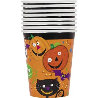 Cartoon Halloween   Lot de 8 gobelets en carton de contenance 270