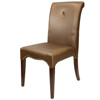 Scroll Leatherette Dark Brown Dining Chairs (Set of 2) Today $411.99