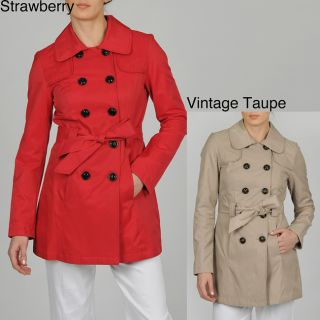 Esprit Womens Double Breasted Belted Trench w/Quilt Detail Today $67