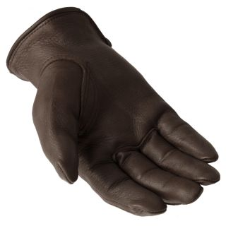Daxx Mens Top Grain Deerskin Leather Fly Wildlife Print Gloves