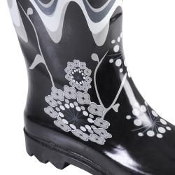 Hailey Jeans Co Womens Avon Flower Print Rainboots
