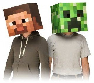 Minecraft 12 Steve Head Costume Mask: Toys & Games