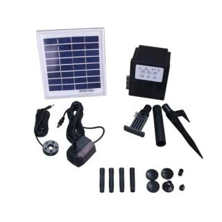 Solar powered 5 watt LED Light Water Pump System