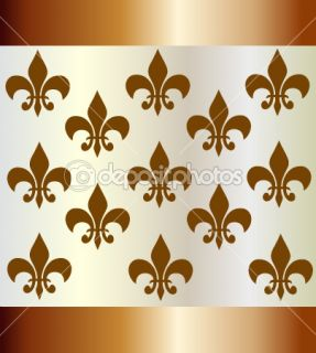 Golden wallpaper with ornaments  Foto stock © Petra Roeder #1740700