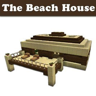 Minecraft Building Designs The Beach House (Step By Step Blueprint