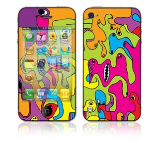 Color Monsters Apple iPhone 4 Vinyl Skin