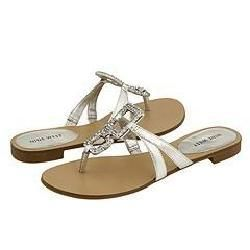 Nine West Rojo Silver/Silver Leather Sandals