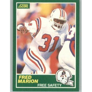 1989 Score #232 Fred Marion   New England Patriots (Football Cards)