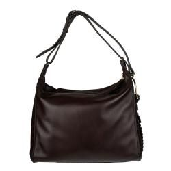 Jimmy Choo Lily Dark Brown Leather Hobo Bag