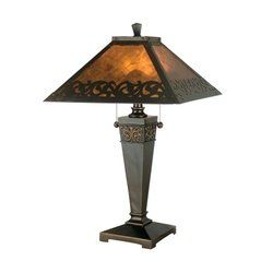 Dale Tiffany TT80171 Valentino Table Lamp, Antique Golden Sand and