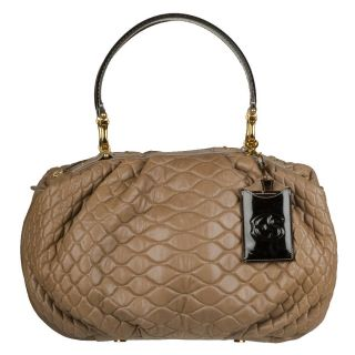 Ermanno Scervino Quilted Leather Hobo Bag