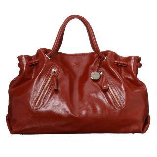 Furla Carmen Double Strap Extra large Red Handbag