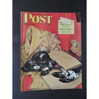 The Saturday Evening Post Magazine June 10,1944 (Cover Only) cover art