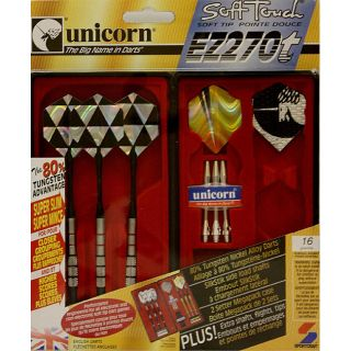 Sportcraft Unicorn Soft Touch Soft Tip Pointe Douce EZ270t Dart Set