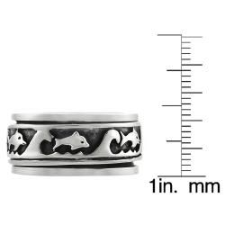 Tressa Sterling Silver Mens Spinner Ring