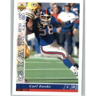 1993 Upper Deck #269 Carl Banks   New York Giants (Football Cards)
