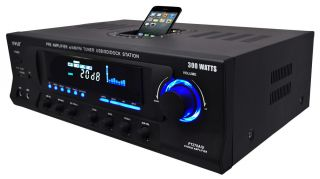 Pyle Home PT270AIU 300 Watt Stereo Receiver AM FM Tuner, USB/SD, iPod