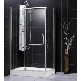 DreamLine Panorama 45x76 inch Clear Glass Chrome Shower Enclosure