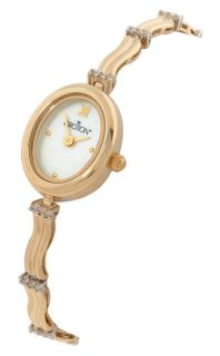 Croton Womens 14k Gold & Diamond Watch
