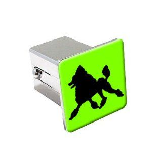 Toy Poodle   Dog   Chrome 2 Tow Trailer Hitch Cover Plug