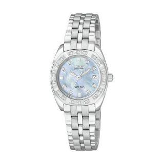 Citizen Eco Drive Womens Paladion Diamond Case Watch